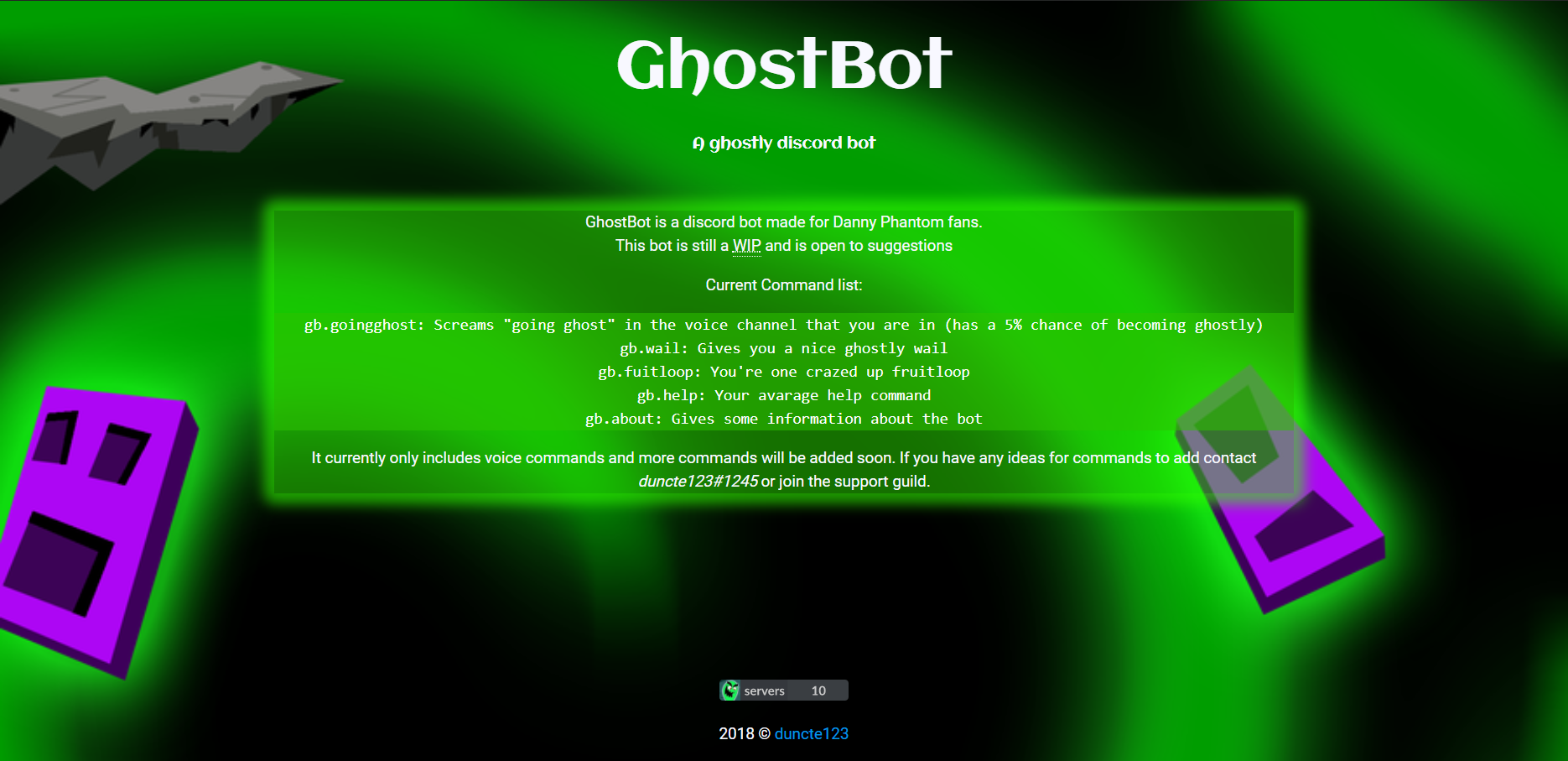 Ghostbot (website) preview