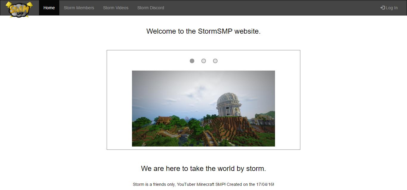 StormSMP website